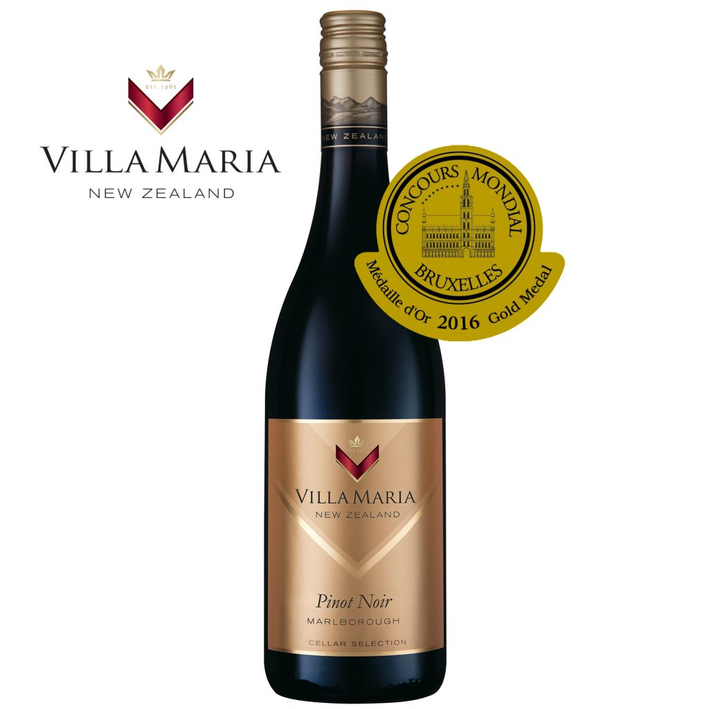 Villa Maria Cellar Selection Organic Pinot Noir with Concours Mondial Gold Medal